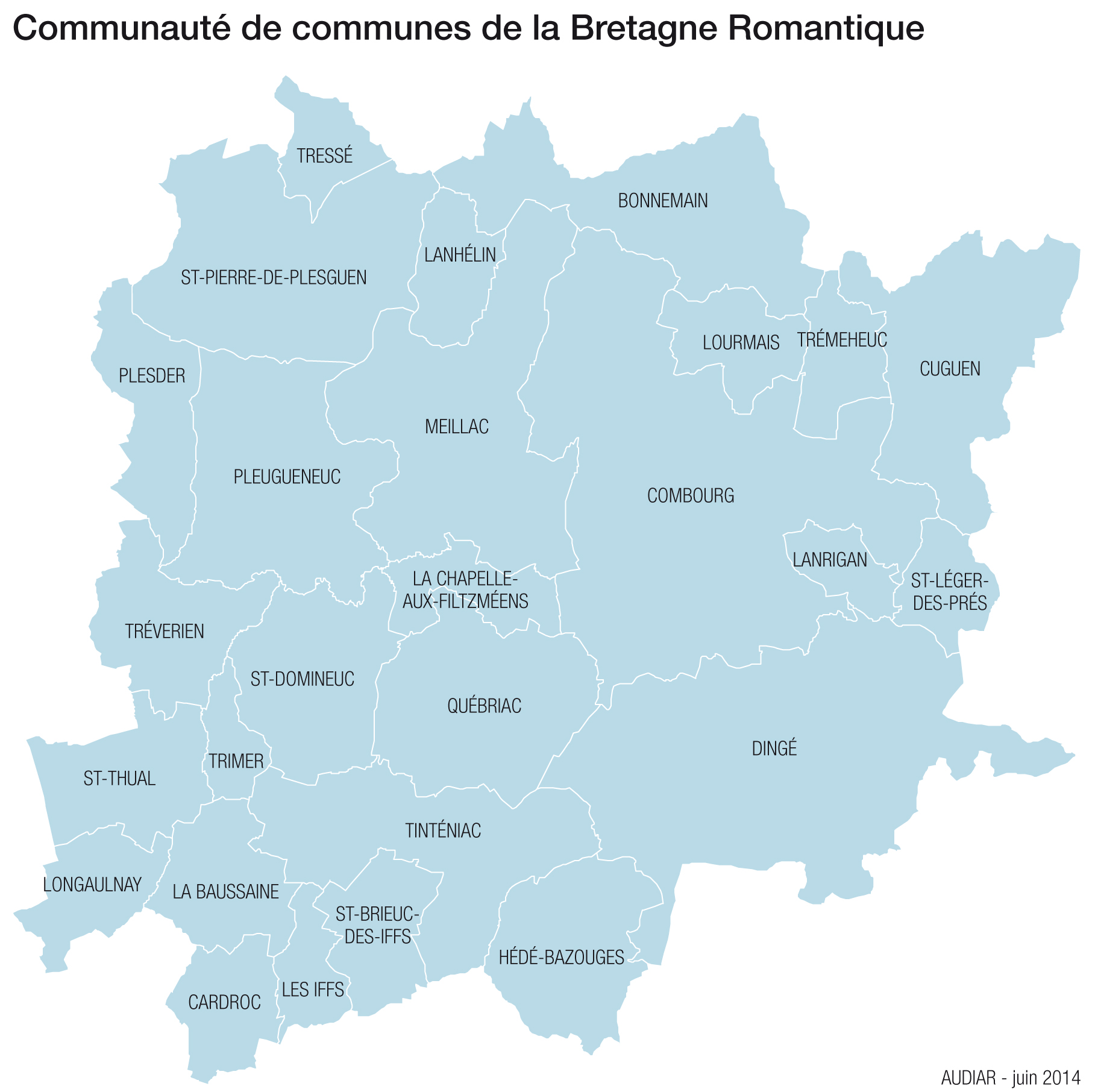 Carte Bretagne Romantique.Le Territoire D Intervention Audiar